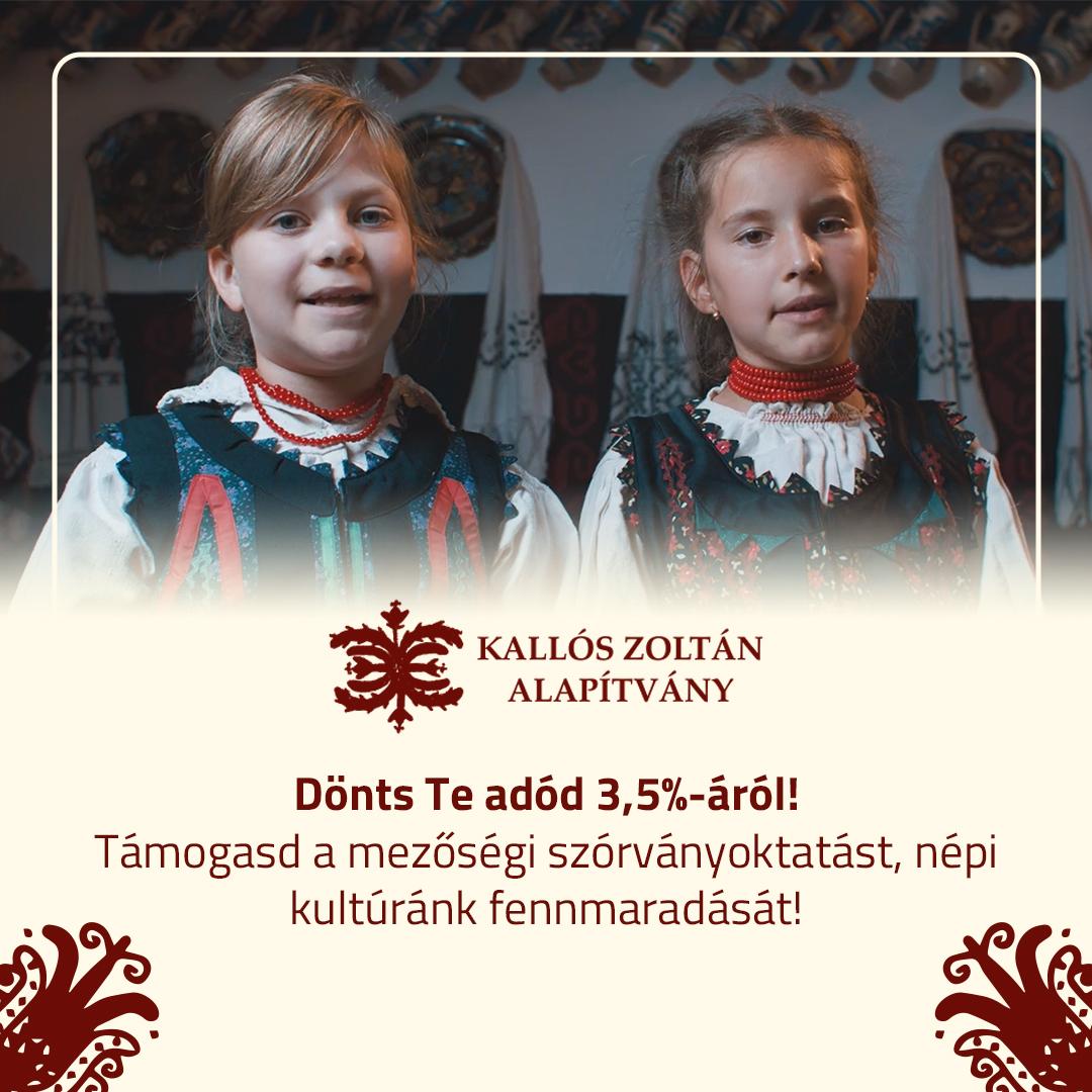 Jövedelemadójának 1 és 3,5 százalékával támogathatja a Kallós Zoltán Alapítványt!